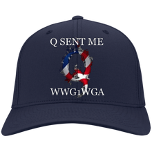 Load image into Gallery viewer, Navy Blue Q Sent Me WWG1WGA Q/Qanon Hat