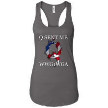 Load image into Gallery viewer, Charcoal Grey Q Sent Me WWG1WGA Q/Qanon Tank Top