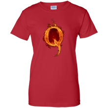 Load image into Gallery viewer, Red Qanon Q On Fire T-shirt