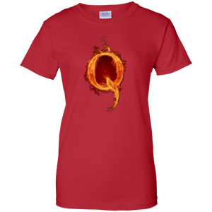 Red Qanon Q On Fire T-shirt