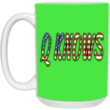 Load image into Gallery viewer, Green Q KNOWS Ceramic Mug