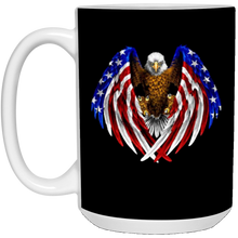 Load image into Gallery viewer, Black American Flag Eagle Wings Mug