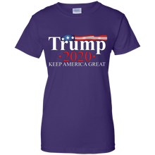 Load image into Gallery viewer, Purple Trump 2020 Keep America Great T-shirt