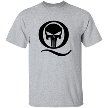 Load image into Gallery viewer, Grey Q Skull Q/Qanon T-shirt