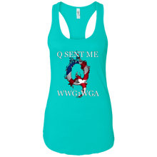 Load image into Gallery viewer, Teal Q Sent Me WWG1WGA Q/Qanon Tank Top