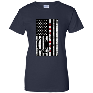 Navy Blue Qanon WWG1WGA Flag Women's T-shirt