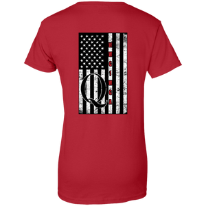 Red Qanon WWG1WGA Flag Women's T-shirt