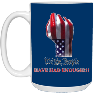 Royal Blue We The People Ceramic Mug