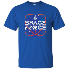 Load image into Gallery viewer, Royal Blue Trump Space Force T-shirt