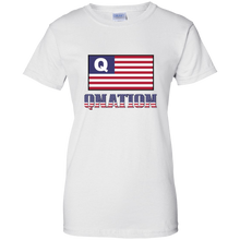Load image into Gallery viewer, White Qnation Q/Qanon T-shirt