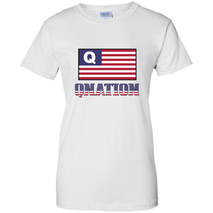 White Qnation Q/Qanon T-shirt