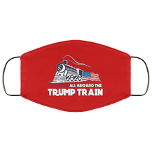 Load image into Gallery viewer, Trump All Aboard The Trump Train Face Mask