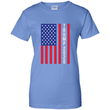 Load image into Gallery viewer, Light Blue Trump 2020 Flag Women's T-shirt