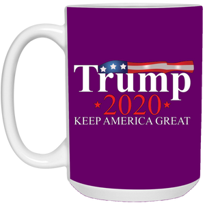 Purple Trump 2020 Keep America Great Mug