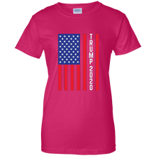 Load image into Gallery viewer, Pink Trump 2020 Flag Women's T-shirt