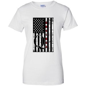 White Qanon WWG1WGA Flag Women's T-shirt