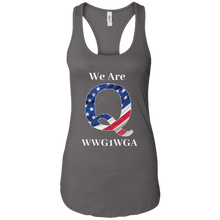 Load image into Gallery viewer, Charcoal Grey We Are Q WWG1WGA Tank Top