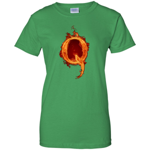 Qanon Q On Fire Women's T-Shirt