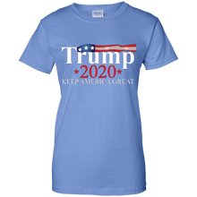 Load image into Gallery viewer, Light Blue Trump 2020 Keep America Great T-shirt