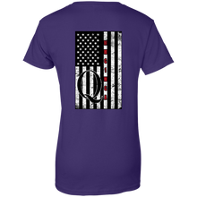 Load image into Gallery viewer, Purple Qanon WWG1WGA Flag Women's T-shirt