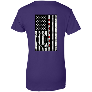 Purple Qanon WWG1WGA Flag Women's T-shirt