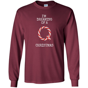 I'm Dreaming Of A Q Christmas Men's Long Sleeve Shirt