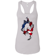 Load image into Gallery viewer, White American Flag Flame Qanon/Q Tank Top