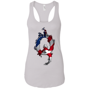 White American Flag Flame Qanon/Q Tank Top
