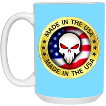 Load image into Gallery viewer, Light Blue Joe M Logo Qanon Mug