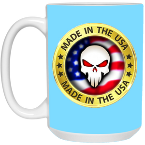 Light Blue Joe M Logo Qanon Mug