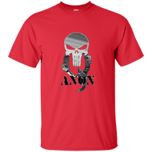 Load image into Gallery viewer, Red Qanon Punisher Skull T-shirt
