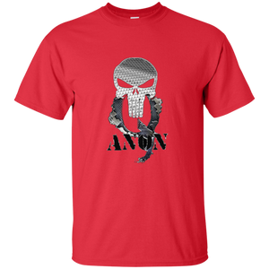 Red Qanon Punisher Skull T-shirt