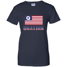 Load image into Gallery viewer, Navy Blue Qnation Q/Qanon T-shirt