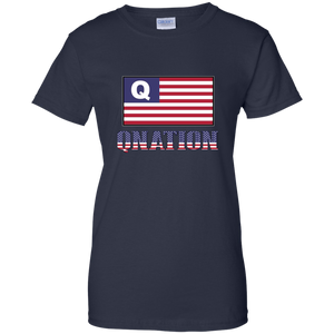 Navy Blue Qnation Q/Qanon T-shirt