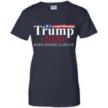 Load image into Gallery viewer, Navy Blue Trump 2020 Keep America Great T-shirt