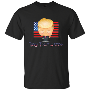 Black Trump Tiny Trumpster Kids T-shirt