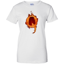 Load image into Gallery viewer, White Qanon Q On Fire T-shirt