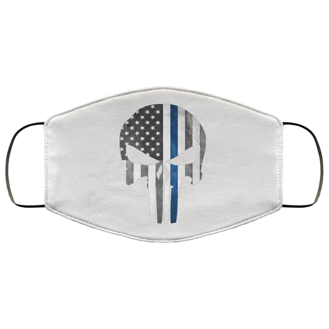 Punisher Skull Thin Blue Line Face Mask