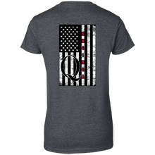 Load image into Gallery viewer, Charcoal Grey Qanon WWG1WGA Flag Women's T-shirt
