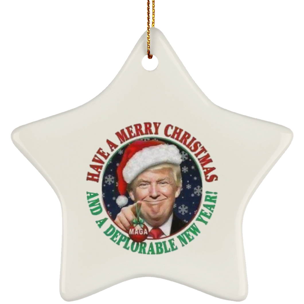 Merry Christmas and a DNY Star Ceramic Ornament