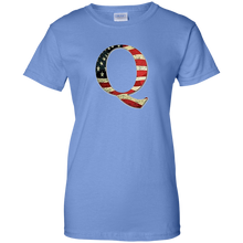 Load image into Gallery viewer, Blue Q American Flag Qanon/Q T-shirt
