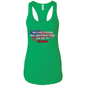Green Trump - No Collusion No Obstruction No Sh*t MAGA Tank Top