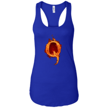 Load image into Gallery viewer, Royal Blue Qanon Q On Fire Tank Top