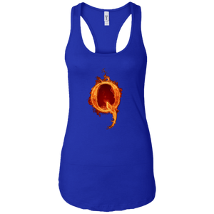 Royal Blue Qanon Q On Fire Tank Top