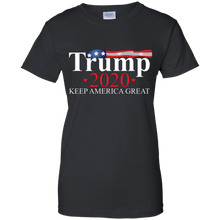 Load image into Gallery viewer, Black Trump 2020 Keep America Great T-shirt