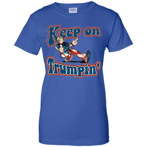 Royal Blue Keep On Trumpin T-shirt