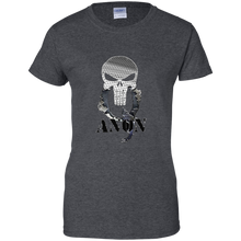 Load image into Gallery viewer, Charcoal Grey Qanon Punisher Skull T-shirt