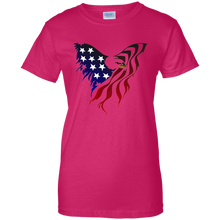 Load image into Gallery viewer, Pink Amercian Flag Eagle T-shirt