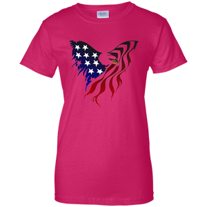 Pink Amercian Flag Eagle T-shirt