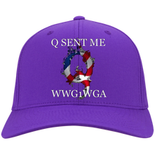 Load image into Gallery viewer, Purple Q Sent Me WWG1WGA Q/Qanon Hat